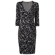 Buy Phase Eight Lexi Leaf Print Dress, Grey Online at johnlewis.com