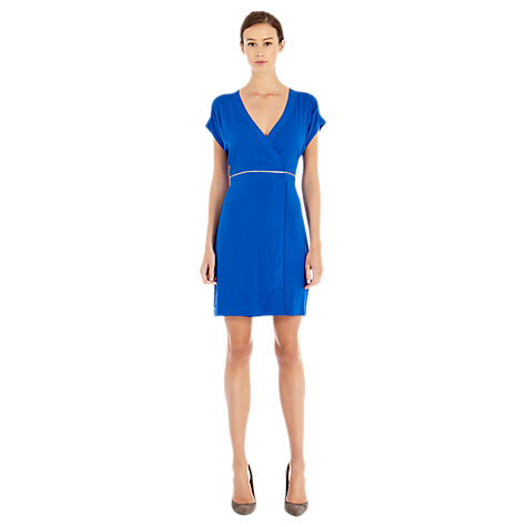 Buy Warehouse Zip Wrap Dress, Bright Blue Online at johnlewis.com