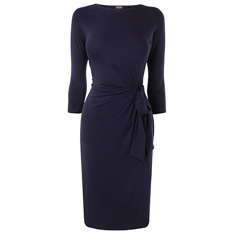 Buy Phase Eight Della Tie Side Dress, Navy Online at johnlewis.com