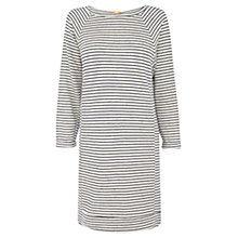 Buy Warehouse Stripe Zip Sweater Dress, Blue Stripe Online at johnlewis.com