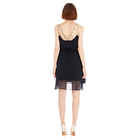 Buy Warehouse Diamanté Strap Dress, Midnight Online at johnlewis.com
