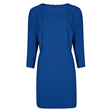 Buy Mango Flowy Pleated Dress, Dark Blue Online at johnlewis.com
