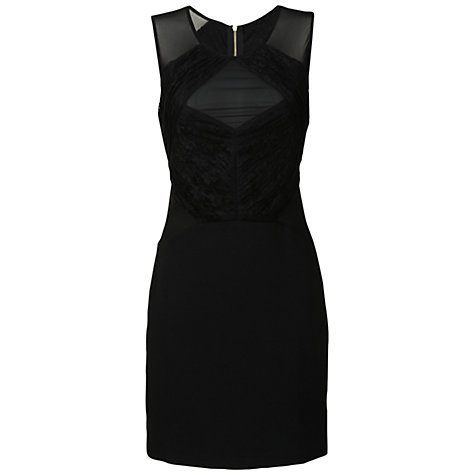 Buy True Decadence Ruched Reveal Bodycon Dress, Black Online at johnlewis.com