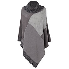 Buy Phase Eight Poppi Patchwork Poncho, Grey Online at johnlewis.com