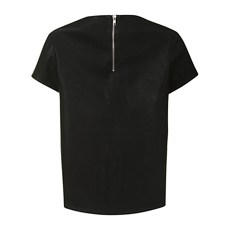 Buy True Decadence Faux Leather T-Shirt, Black Online at johnlewis.com