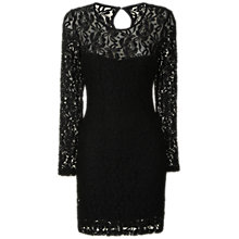 Buy True Decadence Sheer Lace Sweetheart Dress, Black Online at johnlewis.com