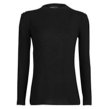 Buy Mango Padded Shoulder Jumper, Black Online at johnlewis.com