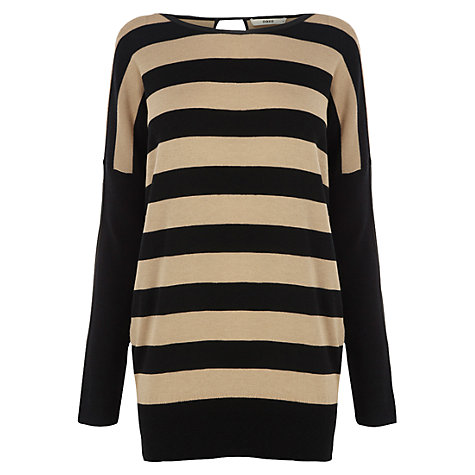 Buy Oasis Oversized Stripe Jumper, Multi/Black Online at johnlewis.com