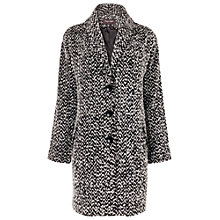 Buy Phase Eight Zena Zig Zag Coat, Black Online at johnlewis.com