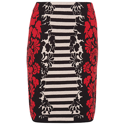 Buy Phase Eight Janet Jacquard Skirt, Red Online at johnlewis.com