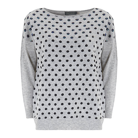 Buy Mint Velvet Spotted Jumper, Grey Online at johnlewis.com