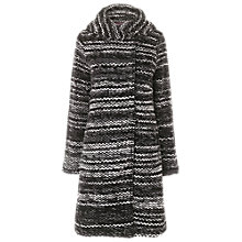 Buy Phase Eight Orla Ombre Coat, Black Online at johnlewis.com