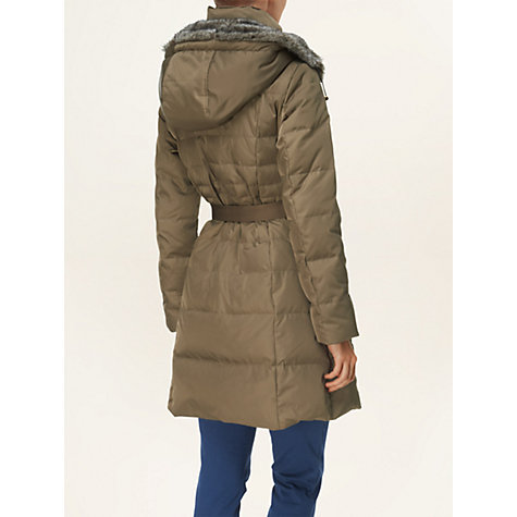 Buy Phase Eight Freya Quilted Coat, Olive Online at johnlewis.com