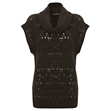 Buy Mint Velvet Lace Stitch Tabard Jumper, Khaki Online at johnlewis.com