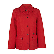 Buy Precis Petite Quilted Coat, Red Online at johnlewis.com