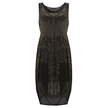 Buy Mint Velvet Leila Print Ovoid Dress, Black Online at johnlewis.com
