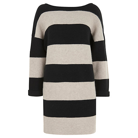 Buy Mint Velvet Oversized Stripe Jumper Dress, Stripe Online at johnlewis.com