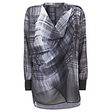 Buy Mint Velvet Asymmetric Checked Blouse, Multi Online at johnlewis.com