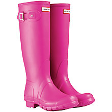 Buy Hunter Adjustable Original Wellington Knee High Boots, Lipstick Pink Online at johnlewis.com