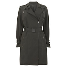 Buy Mint Velvet Zip Trench Coat, Khaki Online at johnlewis.com