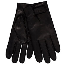 Buy Hugo Boss Kranto Leather Gloves Online at johnlewis.com