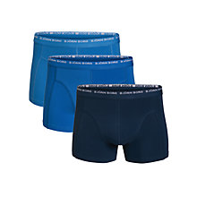 Buy Bjorn Borg Small Logo Trunks, Pack of 3, Blue Online at johnlewis.com