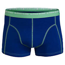 Buy Bjorn Borg Logo Trunks, Pack of 3, Blue/Yellow/Green Online at johnlewis.com