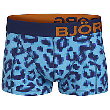 Buy Bjorn Borg Pixel Leopard Trunks, Blue Online at johnlewis.com