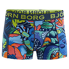 Buy Bjorn Borg Tropical Jungle Trunks, Blue/Multi Online at johnlewis.com