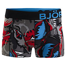 Buy Bjorn Borg Meat Eater Trunks, Black/Multi Online at johnlewis.com