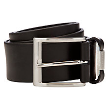 Buy BOSS Connio Cowhide Leather Belt, Black Online at johnlewis.com