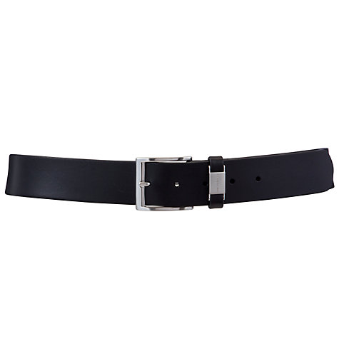 Buy Hugo Boss Connio Cowhide Leather Belt, Black Online at johnlewis.com
