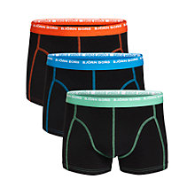 Buy Bjorn Borg Dual Tone Logo Trunks, Pack of 3, Black/Multi Online at johnlewis.com