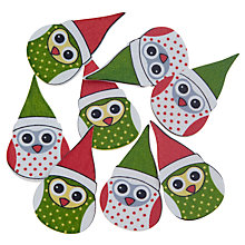 Buy John Lewis Christmas Owl Paper Toppers, Pack of 5 Online at johnlewis.com