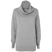 Buy Jaeger Silk Back Cowl Neck Jumper, Light Grey Online at johnlewis.com
