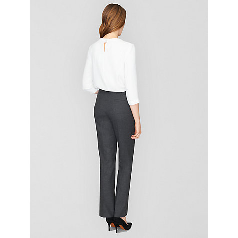 Buy Jaeger Micro Check Trousers, Charcoal Online at johnlewis.com