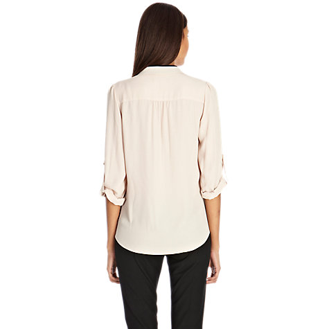 Buy Oasis Colour Block Blouse, Pink Online at johnlewis.com