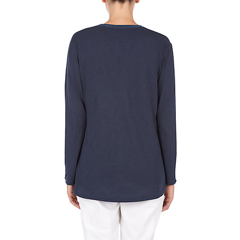 Buy Jigsaw Cotton Slub Silk Bib T-Shirt Online at johnlewis.com