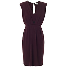 Buy Whistles Anita Dress, Burgundy Online at johnlewis.com
