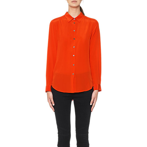Buy Whistles Katlin Silk Blouse, Orange Online at johnlewis.com