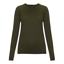 Buy Whistles Amelia Silk Mix Crew Neck Top Online at johnlewis.com