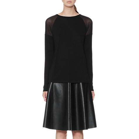 Buy Whistles Lauren Mesh Insert Top, Black Online at johnlewis.com