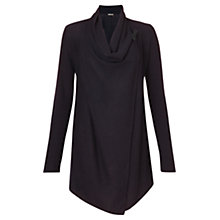 Buy Jigsaw Rice Stitch Drape Cardigan, Pine Online at johnlewis.com