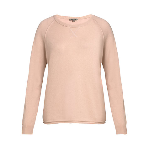 Buy Jigsaw Raglan Sleeve Cashmere Jumper, Vintage Pink Online at johnlewis.com