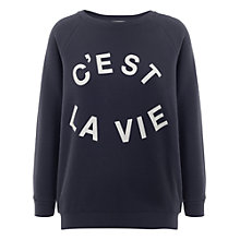 Buy Whistles C'est La Vie Sweatshirt, Navy Online at johnlewis.com