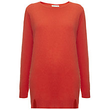 Buy Whistles Devon Longline Angora Knitted Jumper, Red Online at johnlewis.com