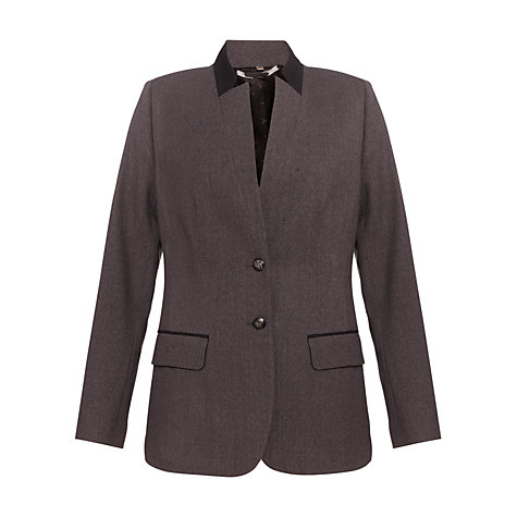 Buy Jigsaw Stretch Flannel Jacket, Grey Online at johnlewis.com