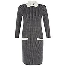 Buy Hobbs Maddox Dress, Black/Ivory Online at johnlewis.com