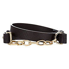 Buy Hobbs Hebi Belt, Black Online at johnlewis.com
