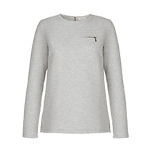 Buy Hobbs Molly Sweatshirt, Grey Melange Online at johnlewis.com